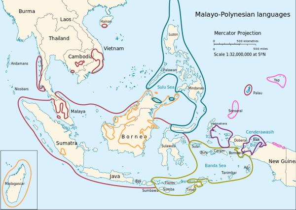 Southeast Asias Language Families - Language family map